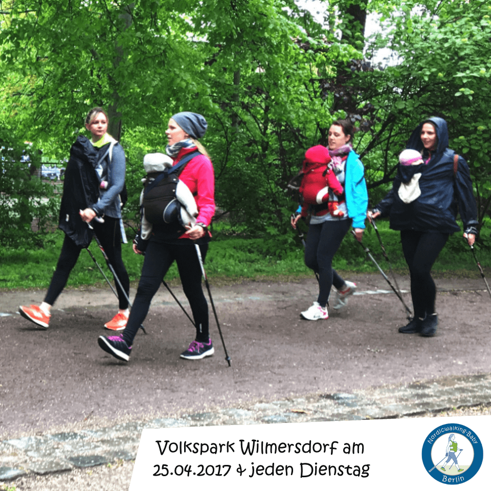 Motiv 01 Teilnehmerinnen Nordic Walking - Baby - Fitness Sport - Berlin