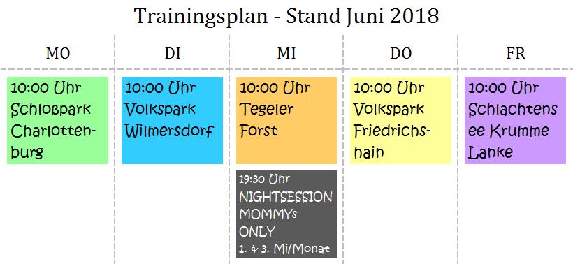Bild Trainingsplan